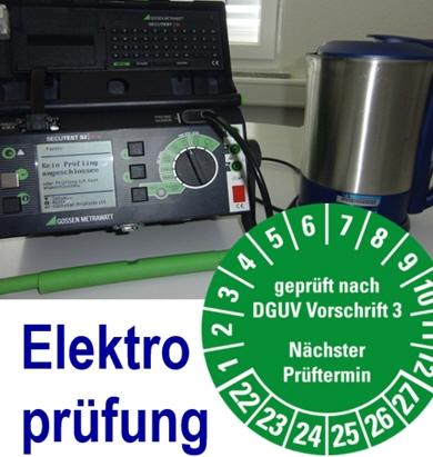 Prüffristen elektrische anlagen